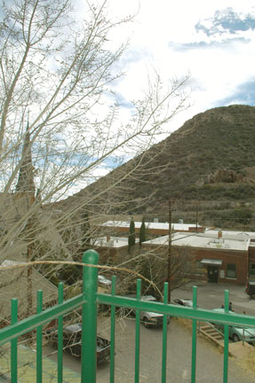 203 deck view - Gym Club Suites, Bisbee Arizona Hotels